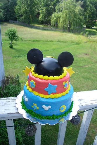 Back side of Mickey Cake